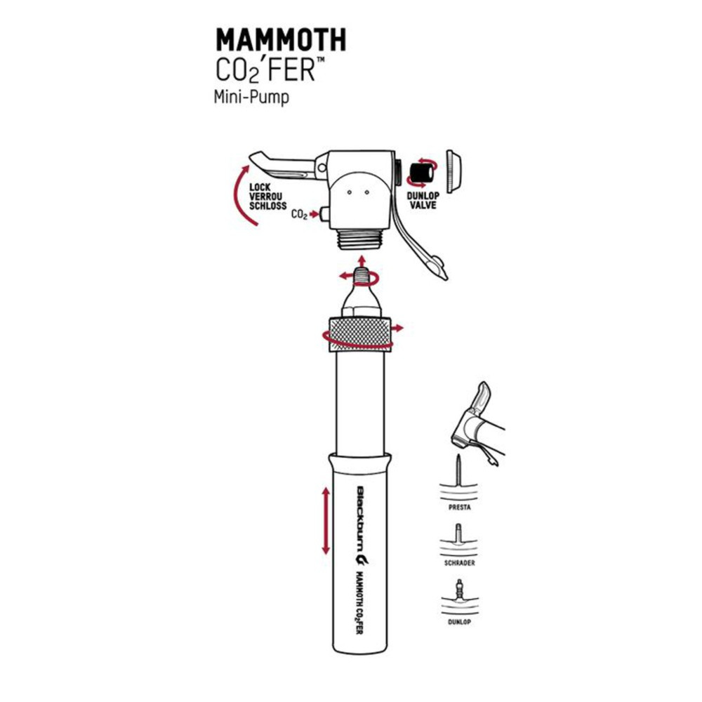 Blackburn Mammoth CO2'fer Mini Bike Pump Alternate Image 4