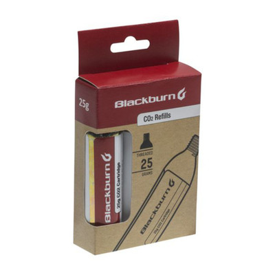 Blackburn 25g CO2 3 Pack Threaded Cartridge