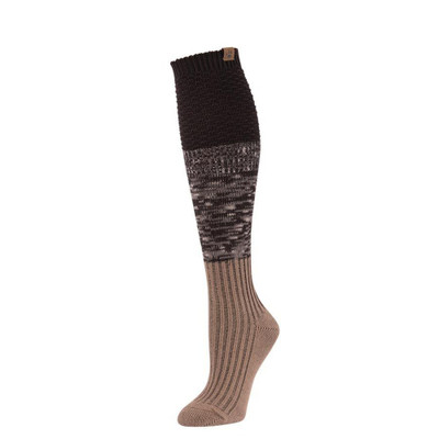 Bearpaw Women's Mix Texture Color Block Knee High Sock