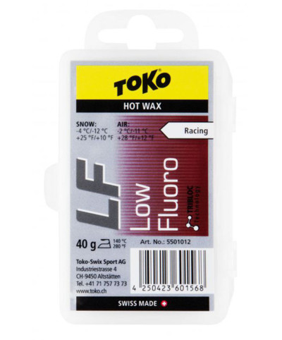 Toko Low Fluoro Hot Wax Red 40g
