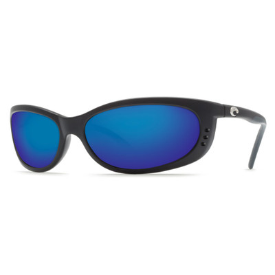 Costa Fathom Sunglasses - Matte Black w/ Blue Mirror Glass W580
