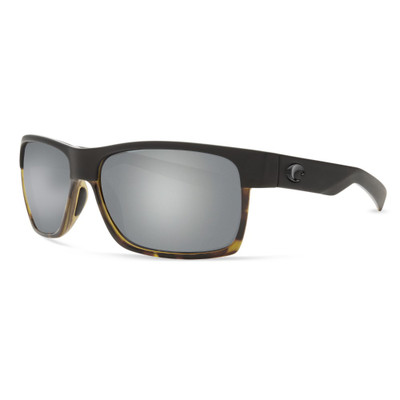 Costa Half Moon Sunglasses -Matte Black Shiny Tortoise w/ Gray Silver Mirror