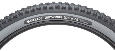 Surly Dirt Wizard Tire - 27.5 x 2.8, Tubeless, Folding, Black/Slate, 60 tpi