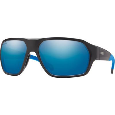 Matt Black Blue/  ChromaPop Polarized Blue Mirror