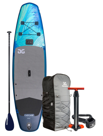Cascade 11' Inflatable SUP Board w/Wayfinder 3 piece SUP Paddle