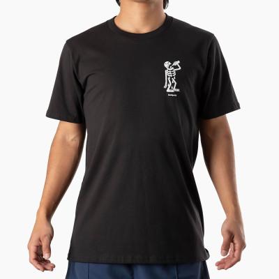 Landyachtz Men's Thirsty Skeleton Short Sleeve Tee Shirt