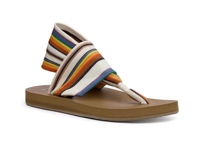 Sanuk Women's Sling Soft Top Pride Sandals