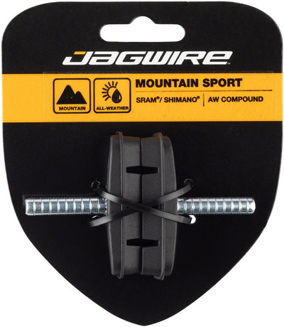 Jagwire Mountain Sport Threaded Post Brake Shoes Black