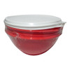 Tupperware Wonderlier Red Color Small 1.2 Litre  Bowl with White Lid Set Of 2 - Image 1
