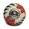 """Trumiri Assorted Floral Round Shape Hand Painted Ceramic Knobs, Multicolor, Drawer Pull Diameter 1.6"""" (40 mm) - Set of 12"""