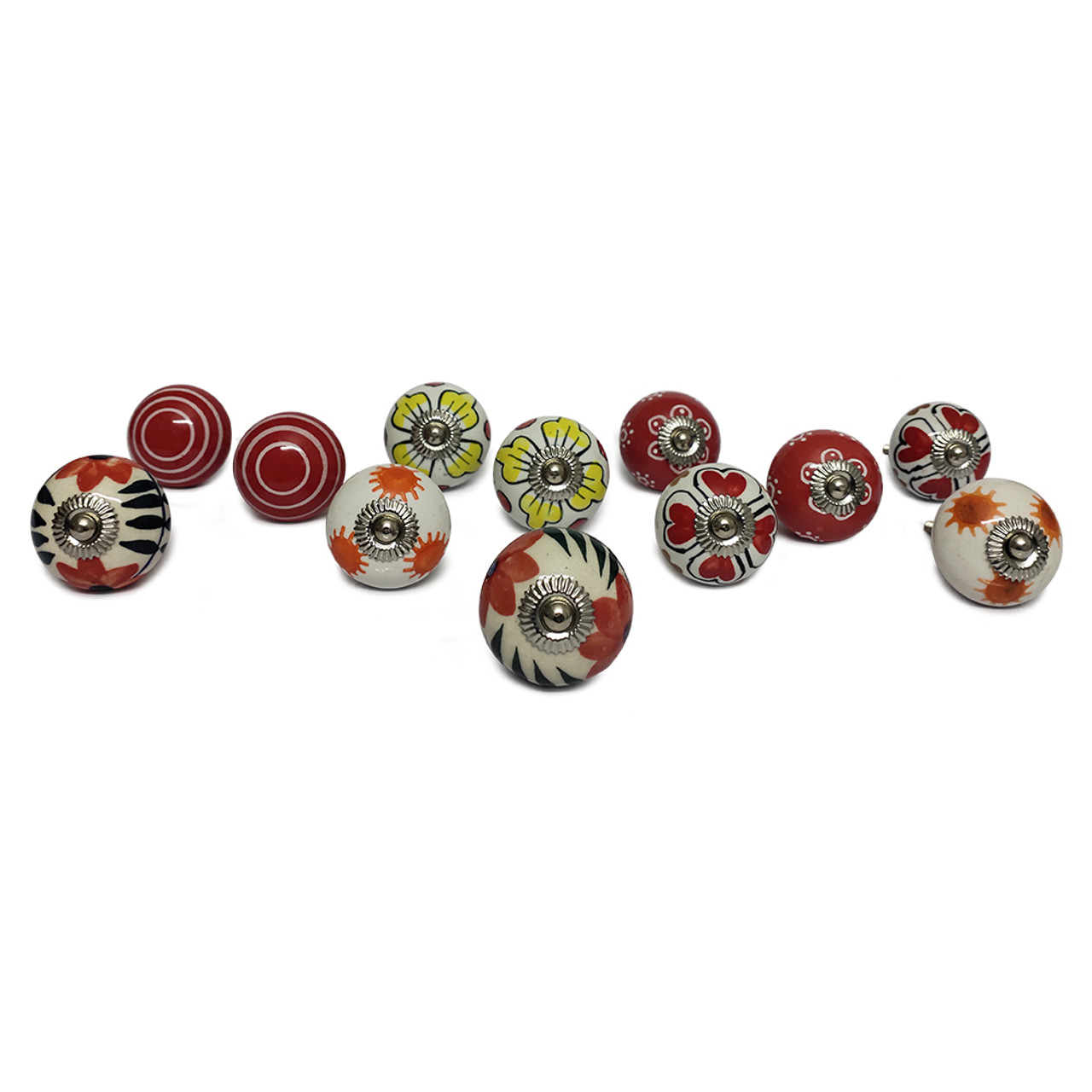 Trumiri Assorted Floral Round Shape Hand Painted