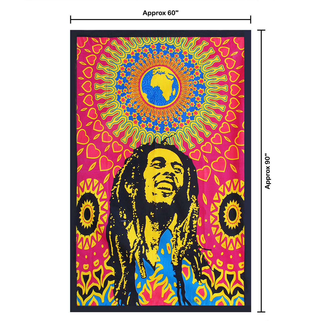 """Home Hippie Decor Cotton Dorm Art Poster Wall Hanging 30X40/"""" Bob Marley Laughing"""
