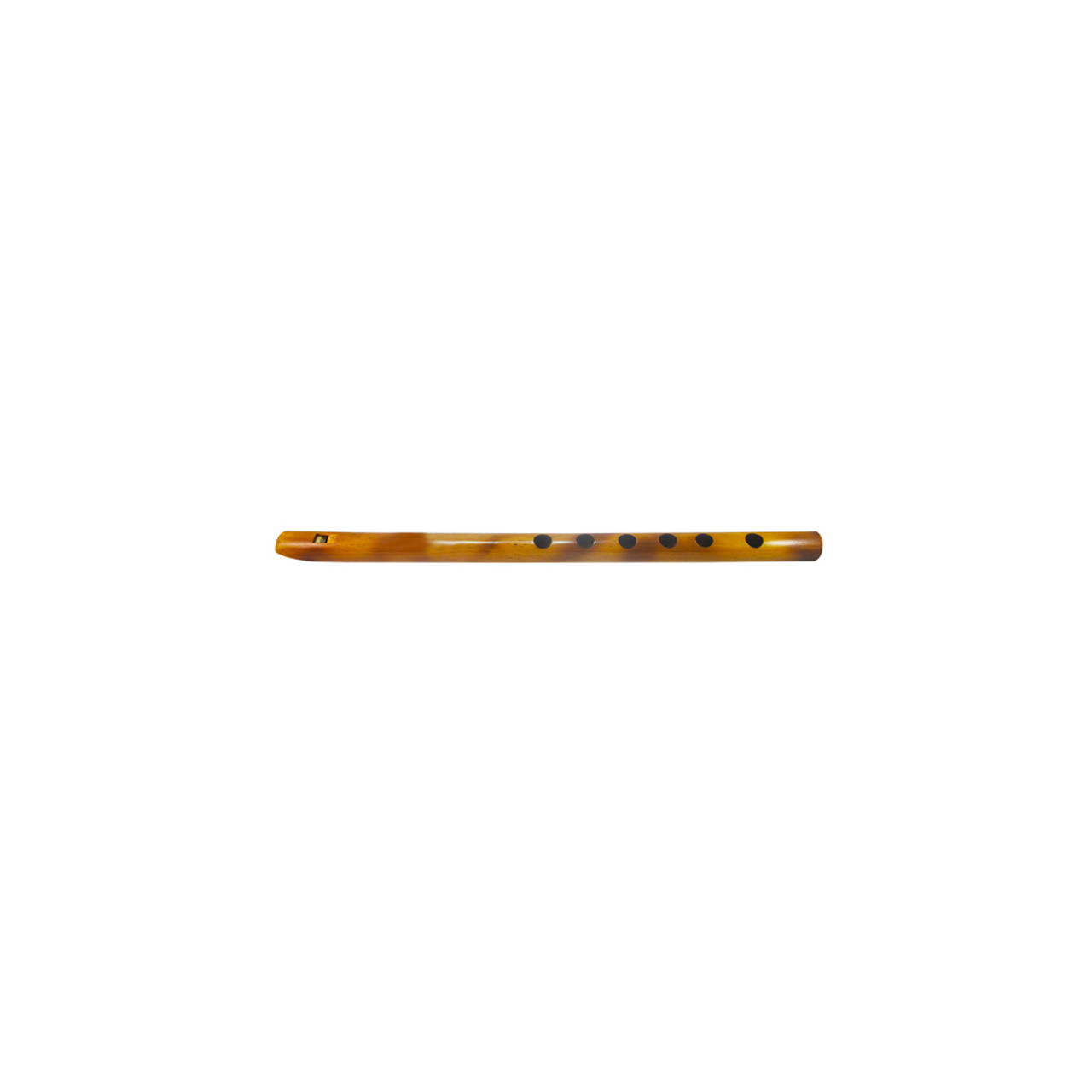 """13"""" Inches Long Handcrafted Bamboo Wooden Flute Indian Bansuri Key Note 'C' Front Mouth - Image 3"""