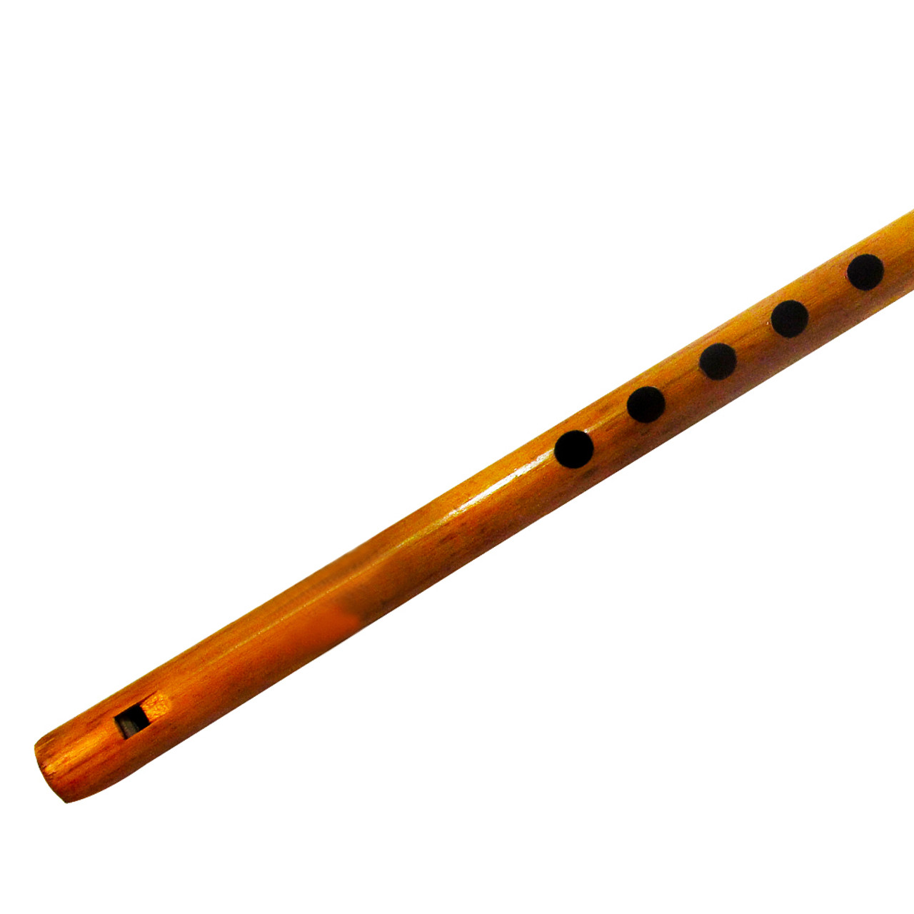"""13"""" Inches Long Handcrafted Bamboo Wooden Flute Indian Bansuri Key Note 'D' Front Mouth - Image 1"""