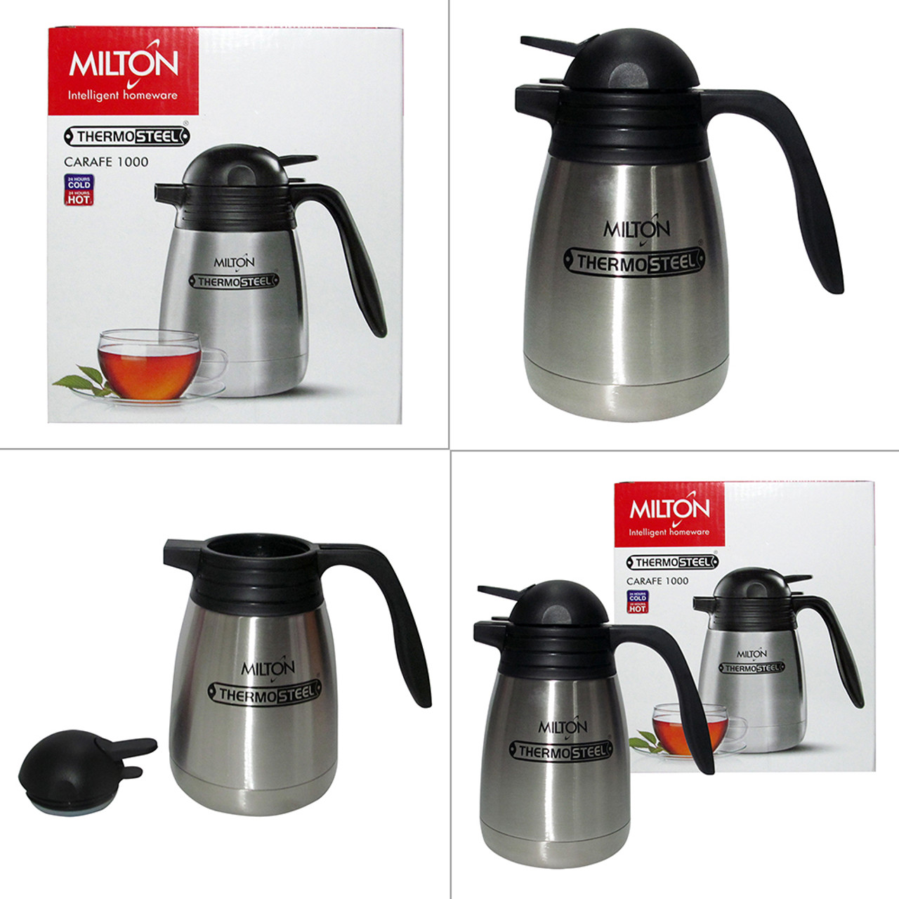 Milton Thermosteel Carafe, 1000 ML Vacuum Insulated Hot And Cold Flask - Image 6