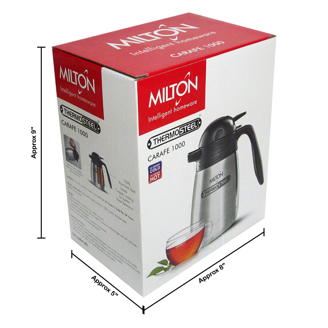 Milton Thermosteel Carafe, 1000 ML Vacuum Insulated Hot And Cold Flask - Image 5