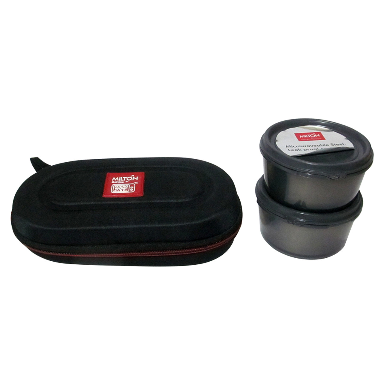 Milton Soft Line Nutri Lunch, 2 Round Leak Proof Container Insulated Lunch Box - Image 3