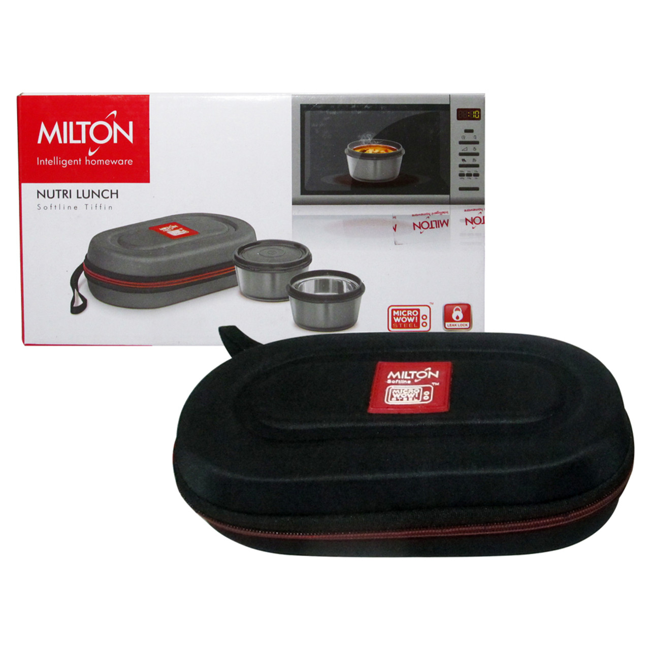 Milton Soft Line Nutri Lunch, 2 Round Leak Proof Container Insulated Lunch Box - Image 7