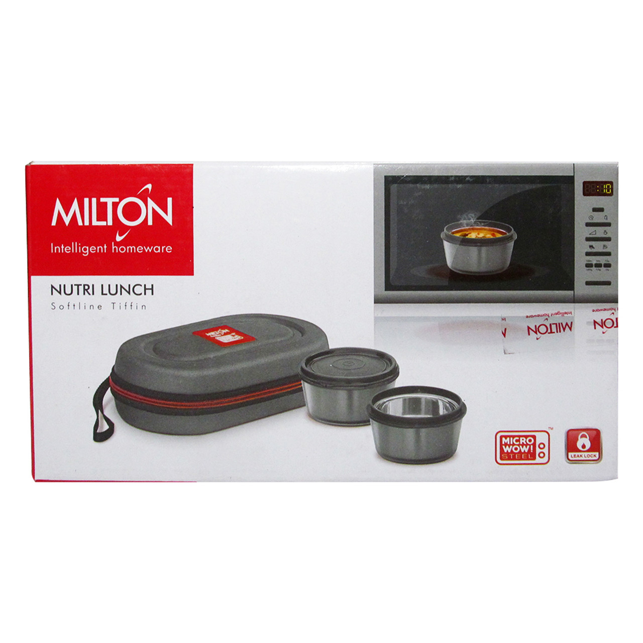 Milton Soft Line Nutri Lunch, 2 Round Leak Proof Container Insulated Lunch Box - Image 9