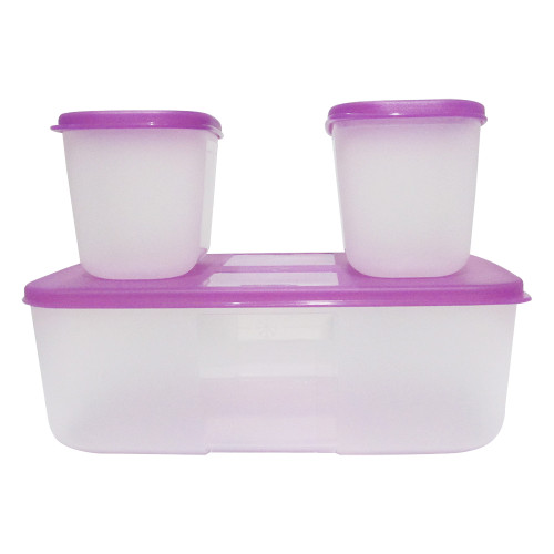 Tupperware Freezer Mate Combo Pack of 5 Containers 3L, 1.5 L, 0.7L , 2Pcs 0.3 L - Image 2