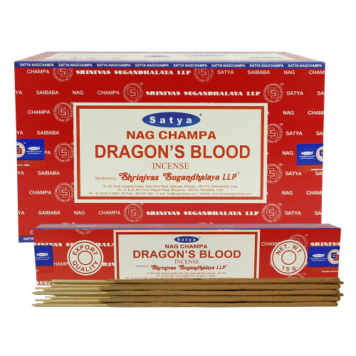 Satya Dragons's Blood Agarbatti Pack of 3 Incense Sticks Boxes, 15 gms Each