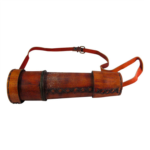 """18"""" Handheld Nautical Spyglass Extendable Telescope with Leather Upper - Image 2"""