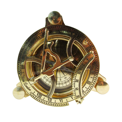 """4"""" Pirate Sundial Compass in Wooden Box - Image 2"""
