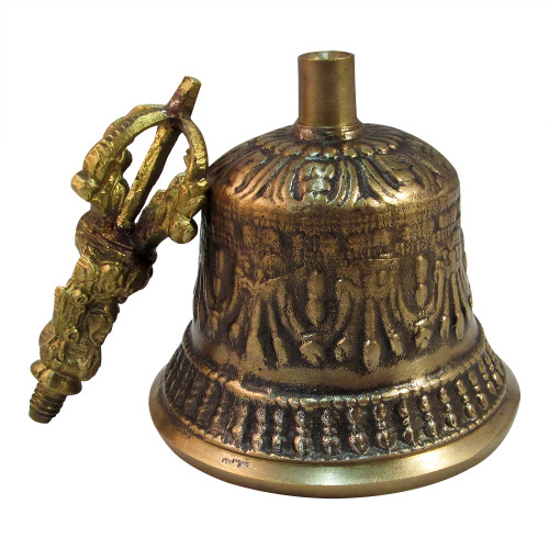 """6""""x3"""" Victorian Style Tibetan Brass Bell Handmade Bell for Home Decoration - Image 2"""
