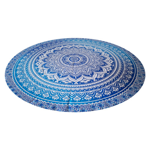 """Trumiri 70"""" With Flower Round Size Ombre Mandala Blue Color"""