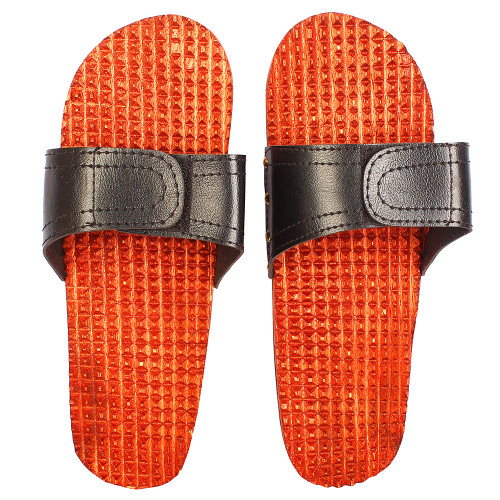"""10""""x4"""" Handmade Wooden Acupressure Slippers with Adjustable Strap - Image 2"""