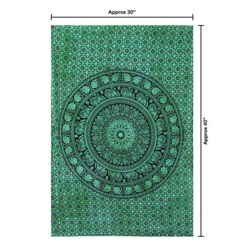 """30""""x40"""" Black & Green Pigment Printed Poster Size Tapestry - Image 2"""