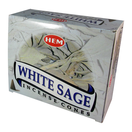 Hem White Sage Pack of 12 Incense Cones Boxes, 10 Cones Each - Image 2