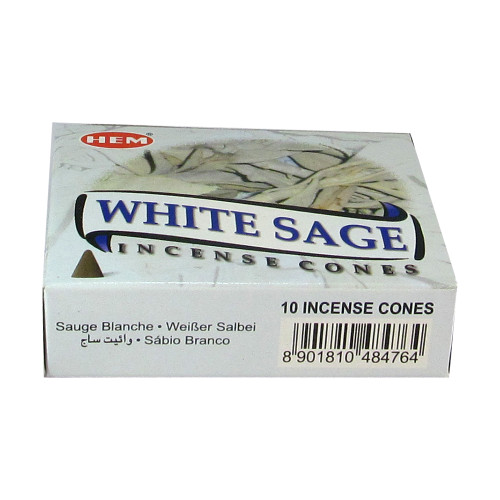 Hem White Sage Pack of 6 Incense Cones Boxes, 10 Cones Each - Image 3