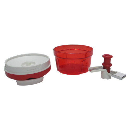 Tupperware Smart Chopper/Vegitable Cutter, Red Small with Anti Skid Base -Image 2