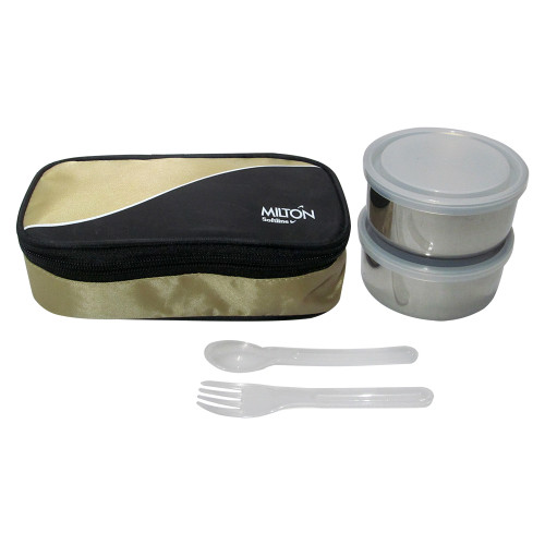 Milton Soft Line Super Meal, 2 Round Steel Container, Insulated Lunch Box - Image 2