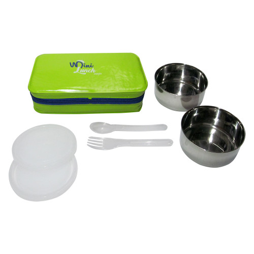 Milton Soft Line Mini Meal, 2 Round Steel Container, Insulated Lunch Box - Image 2