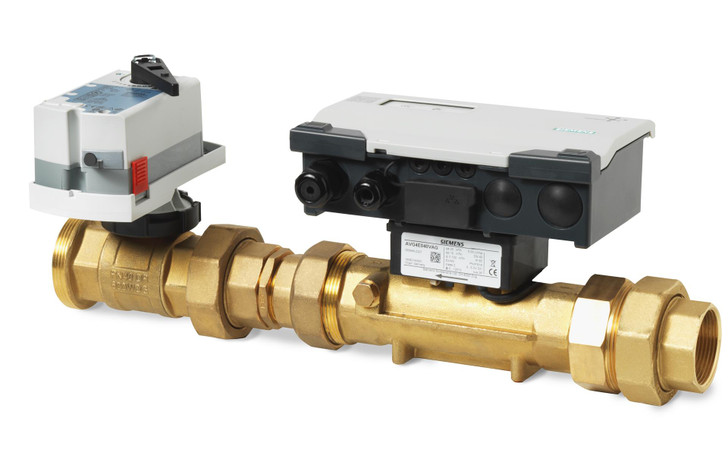 Siemens EVG4U10E040, S55300-M104 Intelligent Valve DN 40 as a sensor controlled pressure independent control valve PN16 with threaded connection