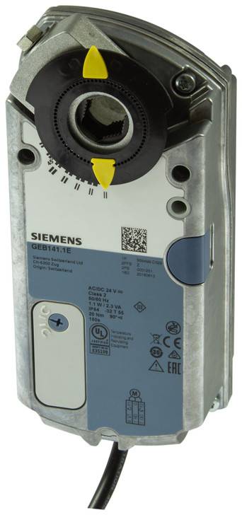 Siemens GEB341.1E, S55499-D336, Rotary air damper actuators 20 Nm, without spring return