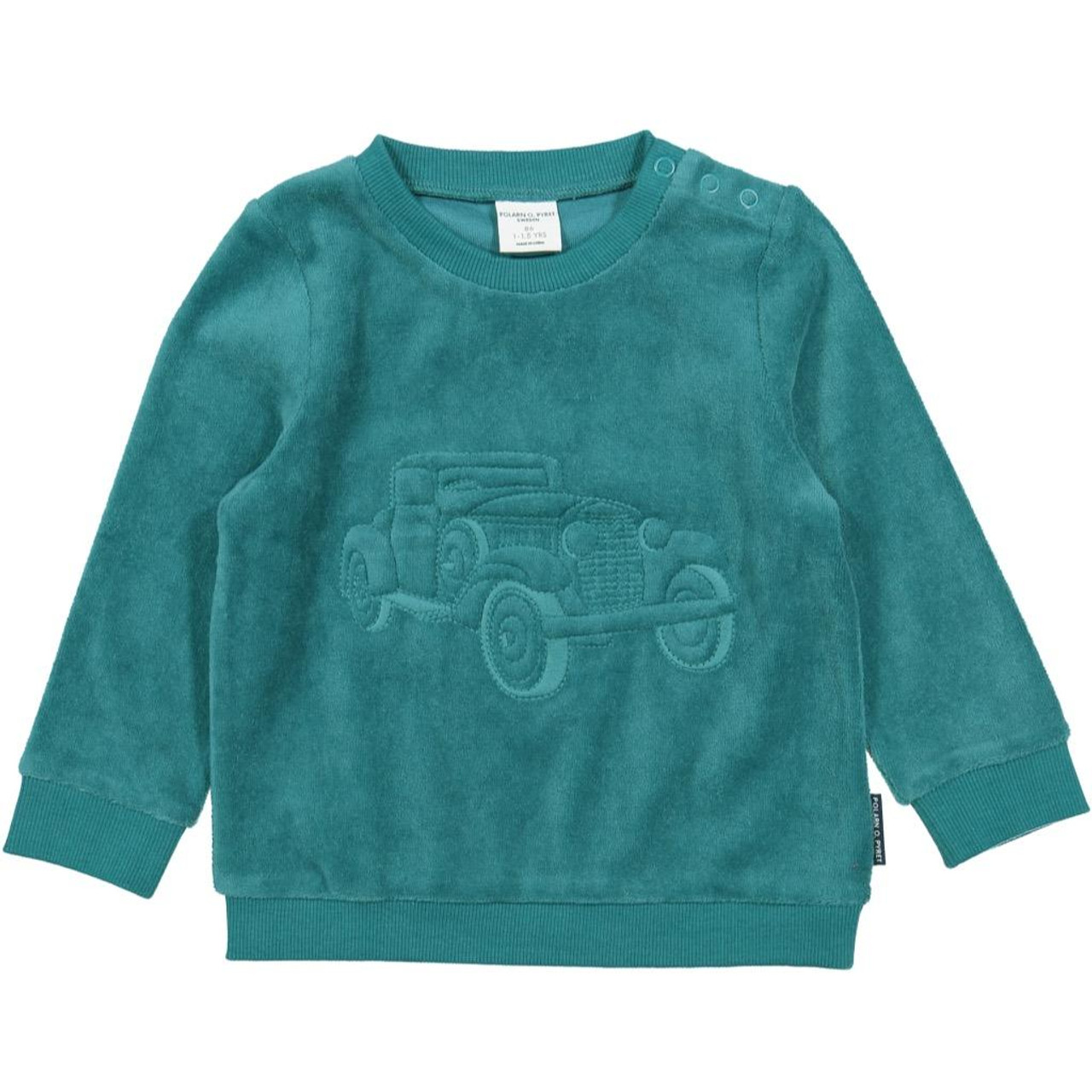 Polarn O Pyret Softy Embroidered Velour TOP Baby