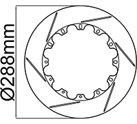 "288mm (11.33"") Rotor Rings"