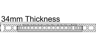 34mm Thickness