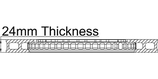 24mm Thickness
