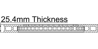 25.4mm Thickness
