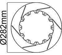 "282mm (11.10"") Rotor Rings"