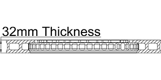 32mm Thickness
