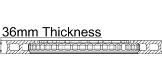 36mm Thickness