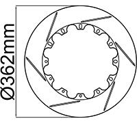 "362mm (14.25"") Rotor Rings"