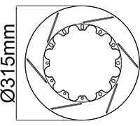 "315mm (12.40"") Rotor Rings"