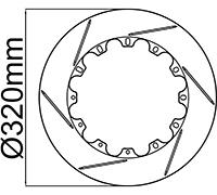 "320mm (12.60"") Rotor Rings"
