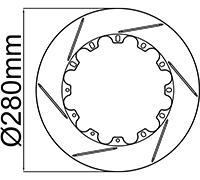 "280mm (11.02"") Rotor Rings"